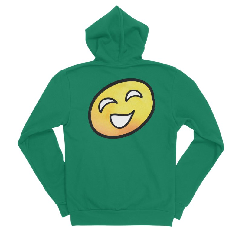 Smiley-Face - Yellow Men's Sponge Fleece Zip-Up Hoody by Puttyhead's Artist Shop