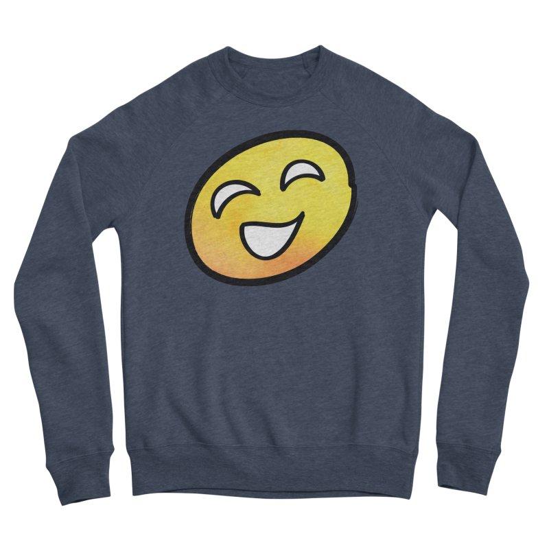 Smiley-Face - Yellow Men's Sponge Fleece Sweatshirt by Puttyhead's Artist Shop