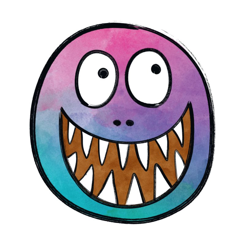 Smiley-Face - Toothy Grin None  by Puttyhead's Artist Shop