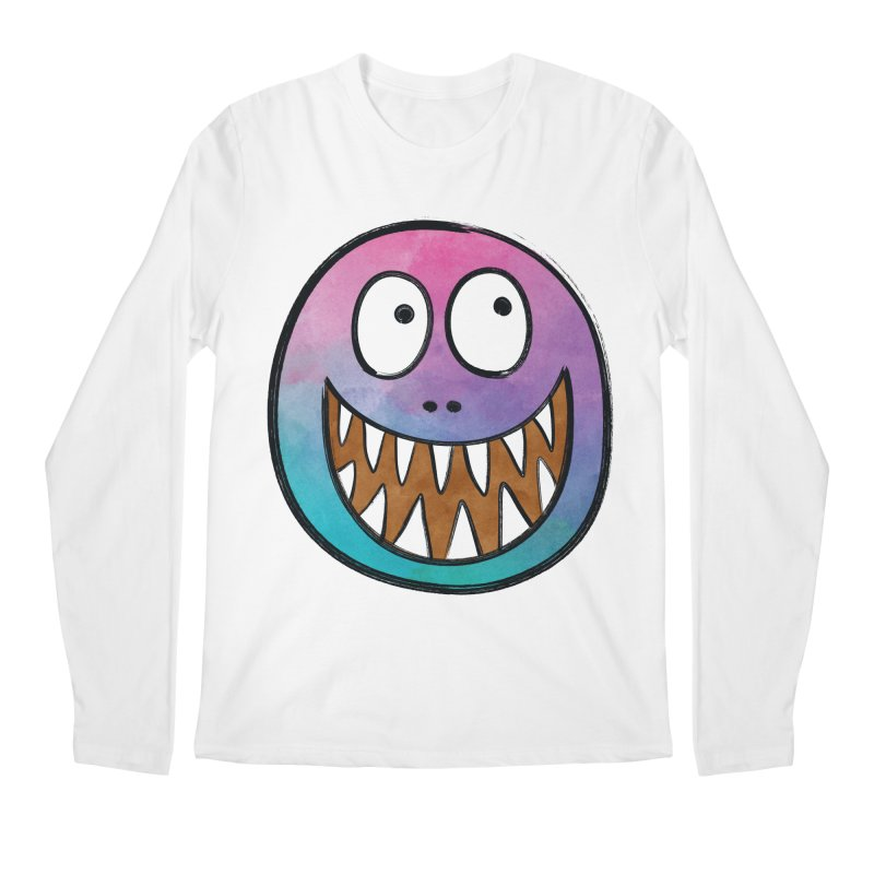 Smiley-Face - Toothy Grin Men's Longsleeve T-Shirt by Puttyhead's Artist Shop