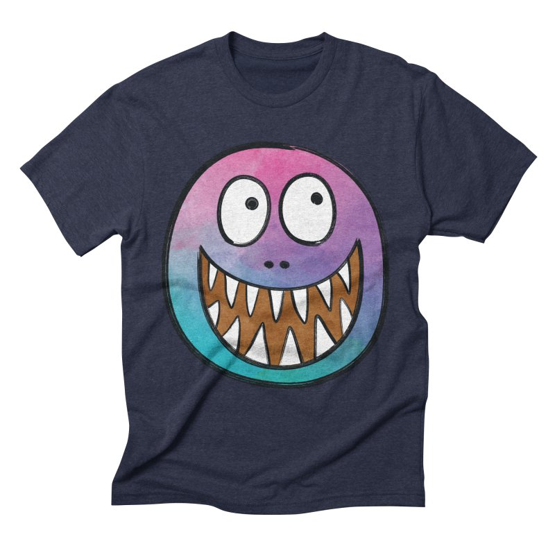 Smiley-Face - Toothy Grin Men's Triblend T-Shirt by Puttyhead's Artist Shop