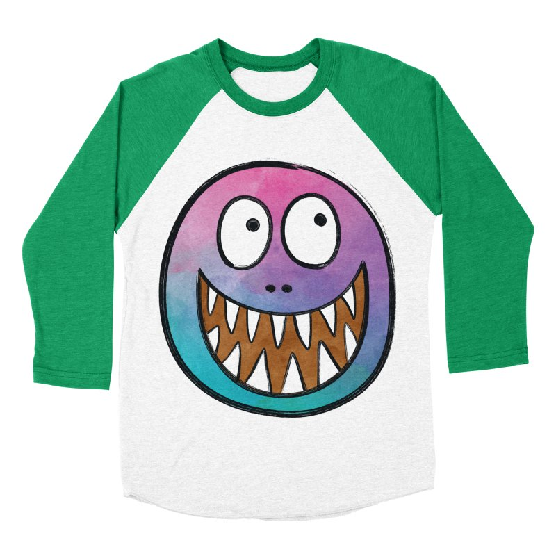 Smiley-Face - Toothy Grin Men's Baseball Triblend T-Shirt by Puttyhead's Artist Shop