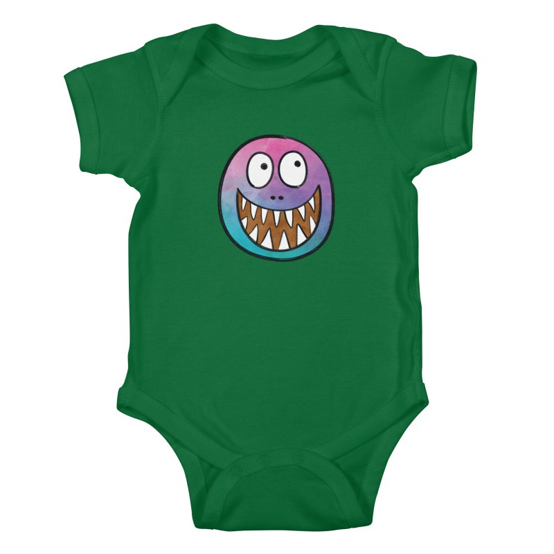 Smiley-Face - Toothy Grin Kids Baby Bodysuit by Puttyhead's Artist Shop