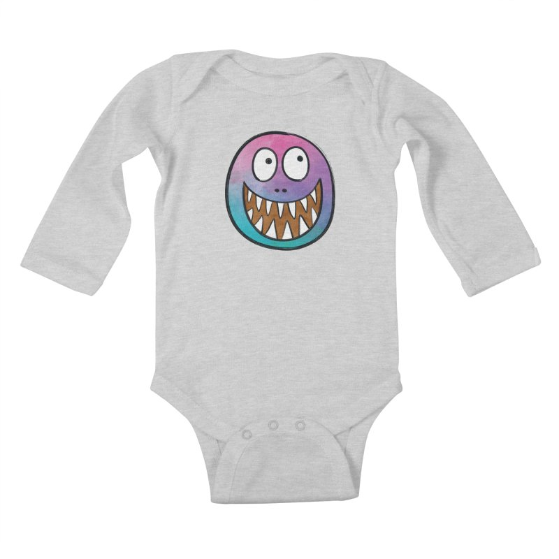 Smiley-Face - Toothy Grin Kids Baby Longsleeve Bodysuit by Puttyhead's Artist Shop