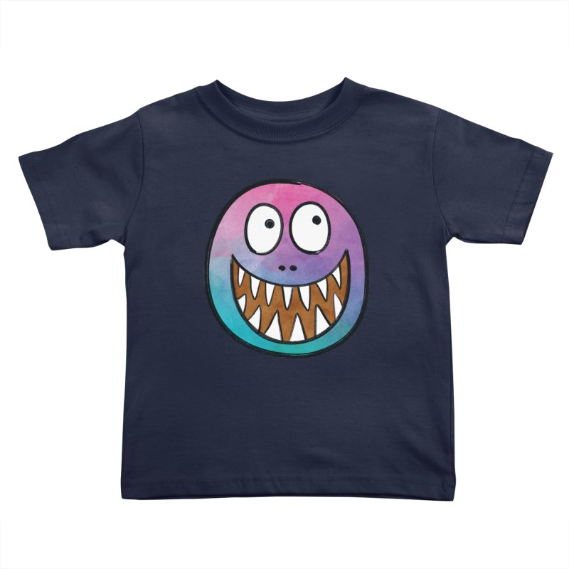 Smiley-Face - Toothy Grin Kids Toddler T-Shirt by Puttyhead's Artist Shop