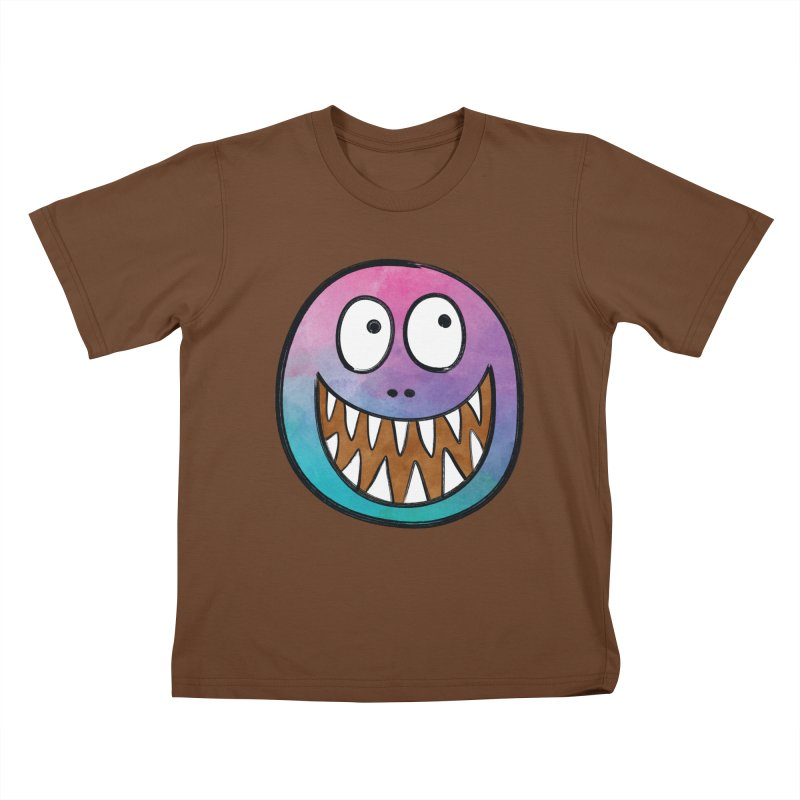 Smiley-Face - Toothy Grin Kids T-Shirt by Puttyhead's Artist Shop