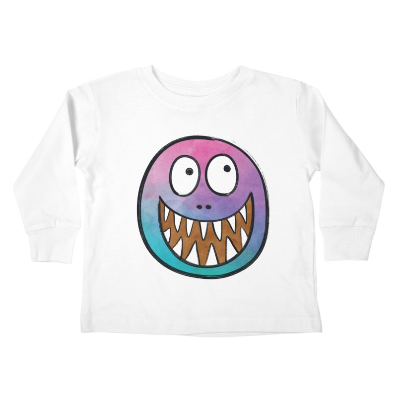 Smiley-Face - Toothy Grin Kids Toddler Longsleeve T-Shirt by Puttyhead's Artist Shop