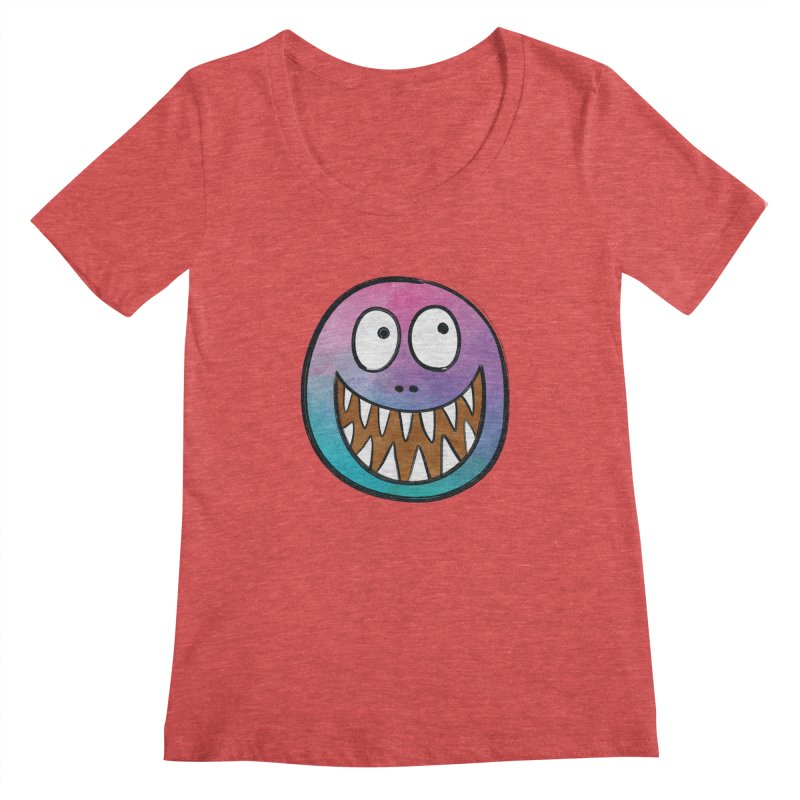 Smiley-Face - Toothy Grin Women's Scoopneck by Puttyhead's Artist Shop