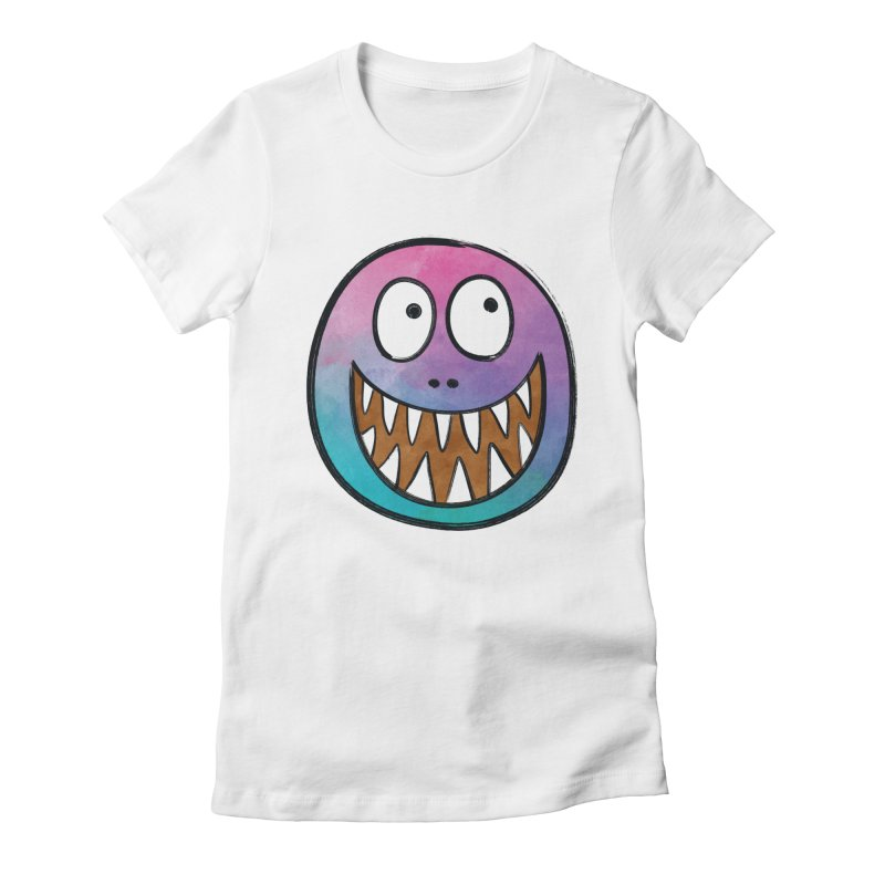 Smiley-Face - Toothy Grin Women's Fitted T-Shirt by Puttyhead's Artist Shop