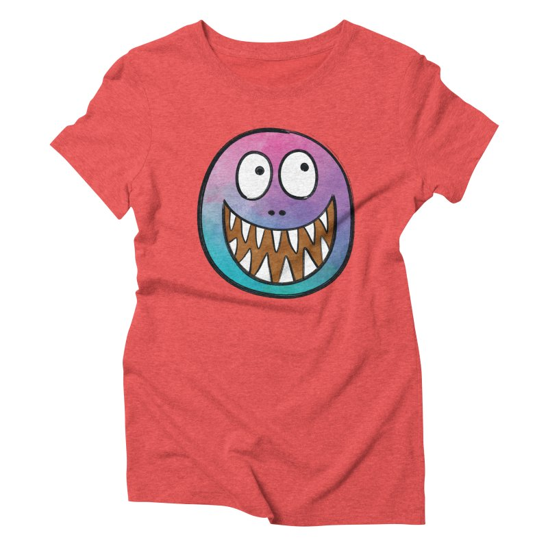 Smiley-Face - Toothy Grin Women's Triblend T-shirt by Puttyhead's Artist Shop