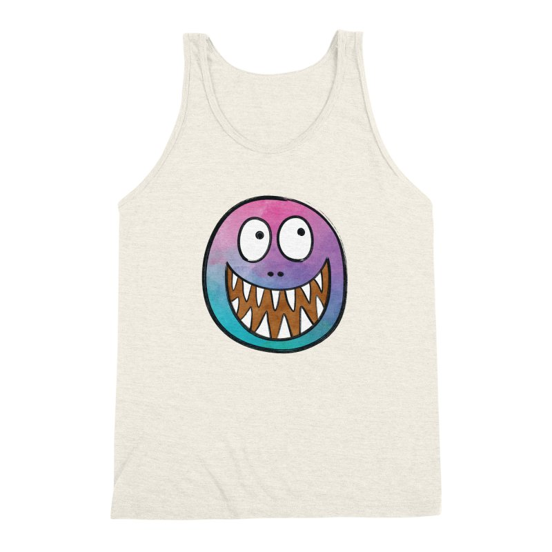 Smiley-Face - Toothy Grin Men's Triblend Tank by Puttyhead's Artist Shop