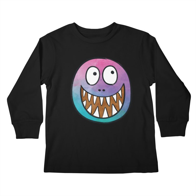 Smiley-Face - Toothy Grin Kids Longsleeve T-Shirt by Puttyhead's Artist Shop