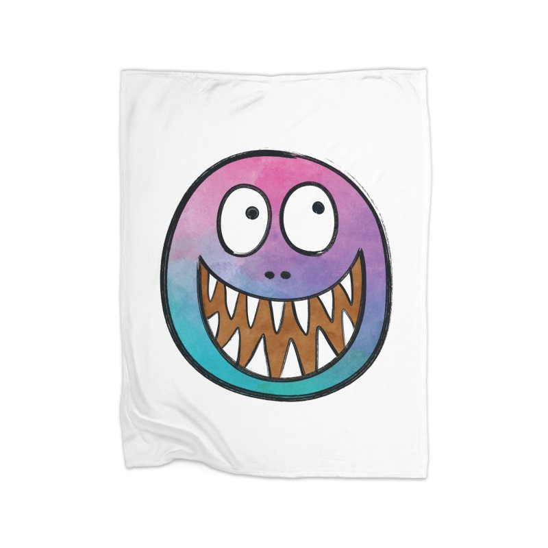 Smiley-Face - Toothy Grin Home Blanket by Puttyhead's Artist Shop
