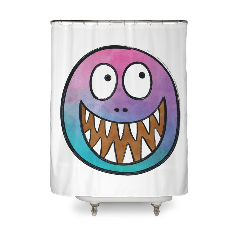 Smiley-Face - Toothy Grin Home Shower Curtain by Puttyhead's Artist Shop