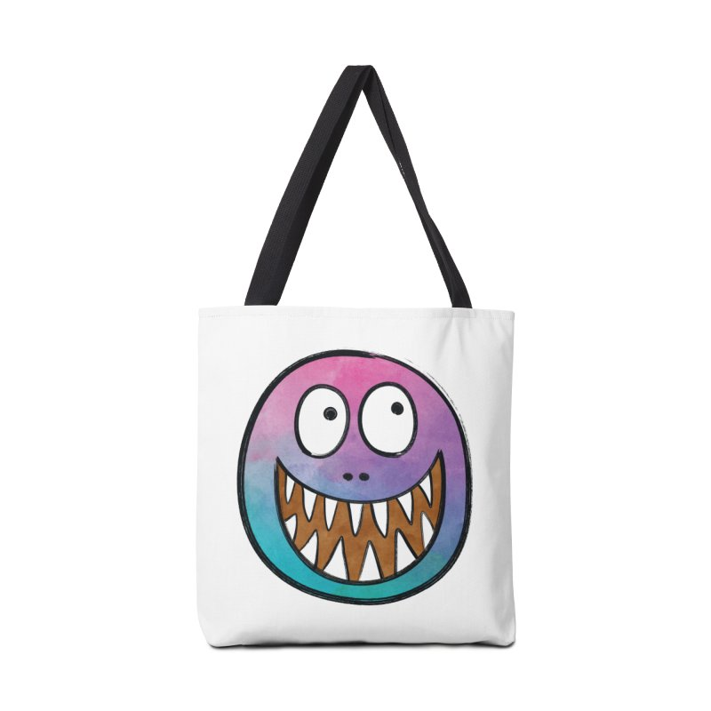 Smiley-Face - Toothy Grin Accessories Bag by Puttyhead's Artist Shop