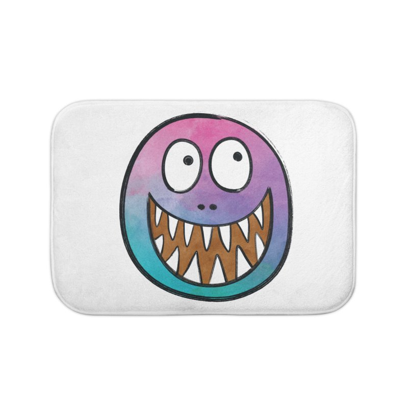 Smiley-Face - Toothy Grin Home Bath Mat by Puttyhead's Artist Shop