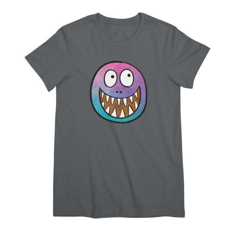 Smiley-Face - Toothy Grin Women's Premium T-Shirt by Puttyhead's Artist Shop