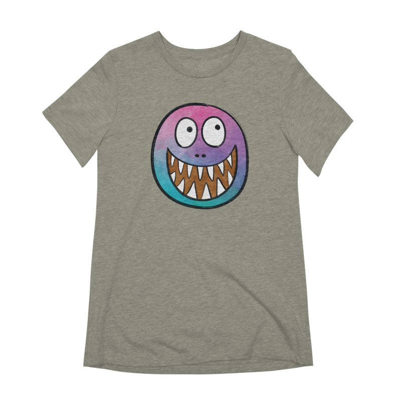 Smiley-Face - Toothy Grin Women's Extra Soft T-Shirt by Puttyhead's Artist Shop