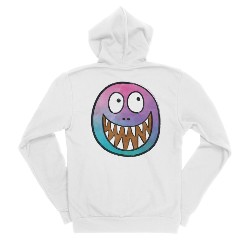 Smiley-Face - Toothy Grin Men's Sponge Fleece Zip-Up Hoody by Puttyhead's Artist Shop