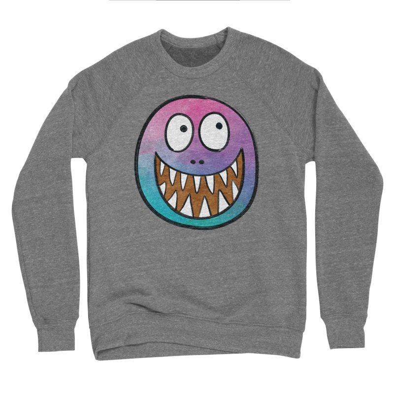 Smiley-Face - Toothy Grin Men's Sponge Fleece Sweatshirt by Puttyhead's Artist Shop