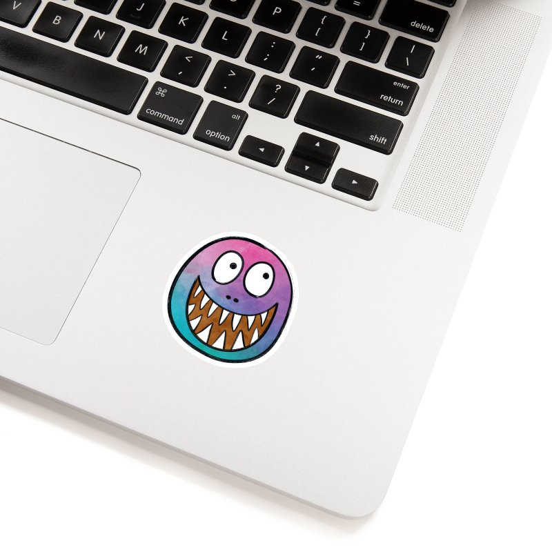 Smiley-Face - Toothy Grin Accessories Sticker by Puttyhead's Artist Shop
