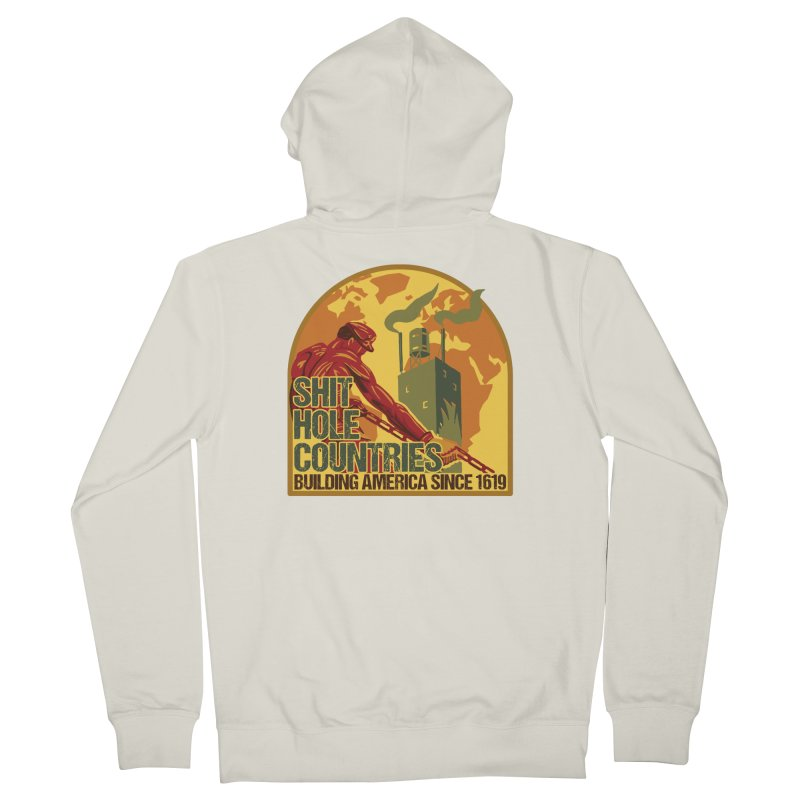 Shit-Hole Countries 2 Men's Zip-Up Hoody by Puttyhead's Artist Shop