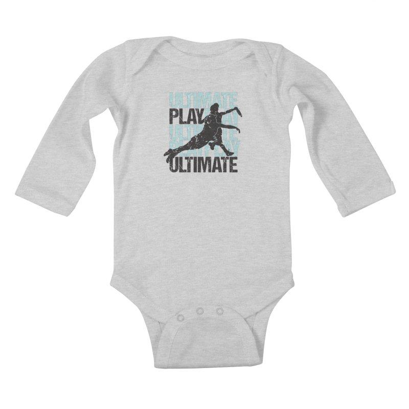 Play Ultimate 1 Kids Baby Longsleeve Bodysuit by Puttyhead's Artist Shop