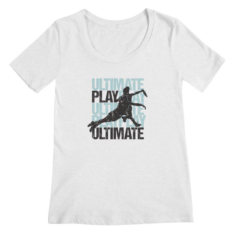 Play Ultimate 1 Women's Scoopneck by Puttyhead's Artist Shop