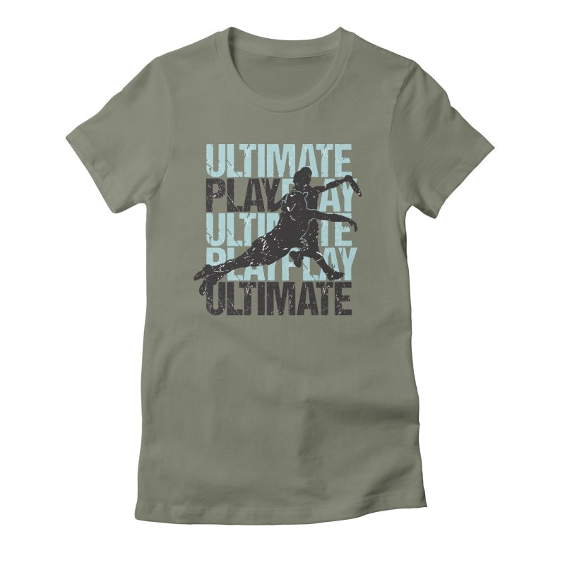 Play Ultimate 1 Women's Fitted T-Shirt by Puttyhead's Artist Shop