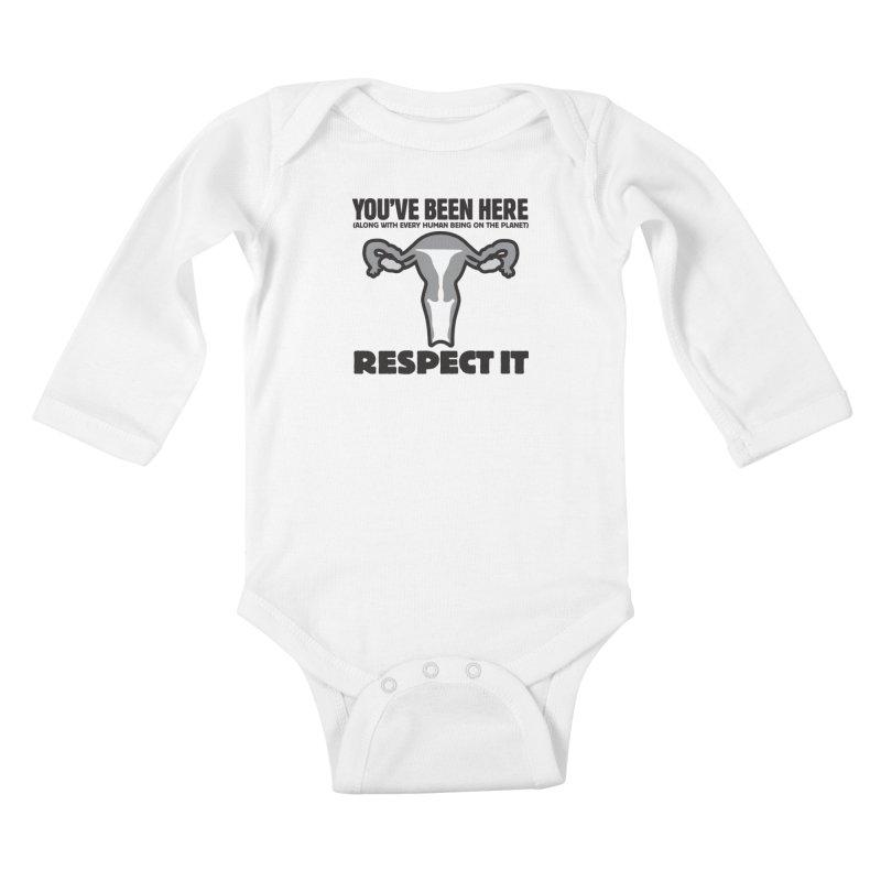 Respect It! Kids Baby Longsleeve Bodysuit by Puttyhead's Artist Shop
