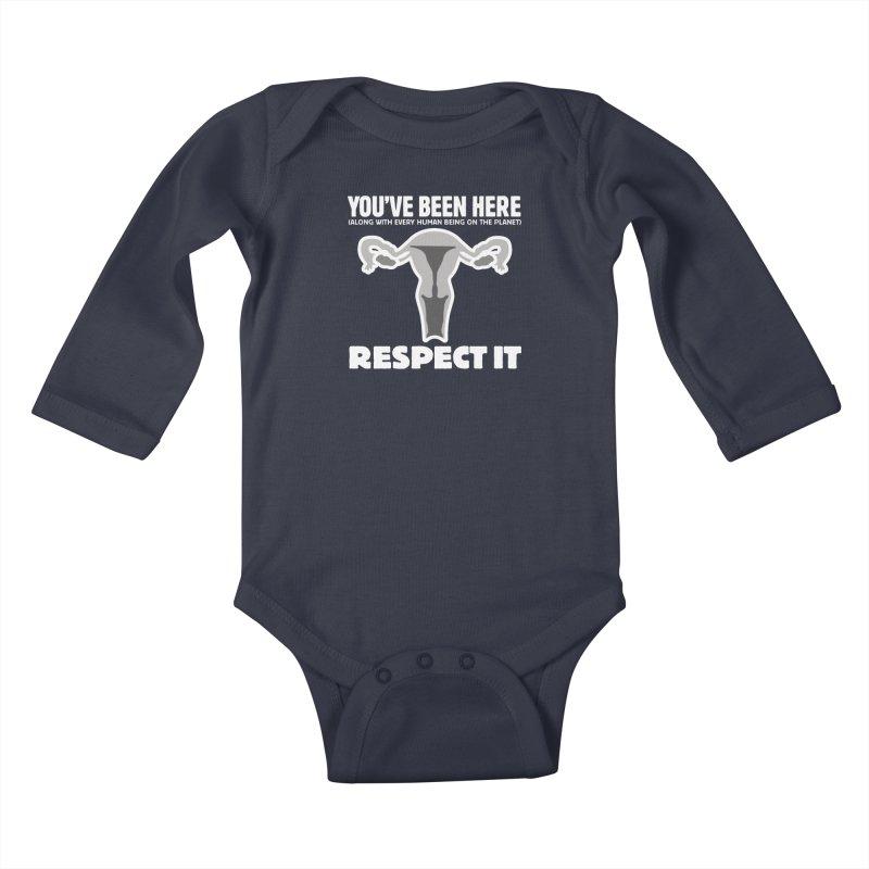 Respect It! (White) Kids Baby Longsleeve Bodysuit by Puttyhead's Artist Shop