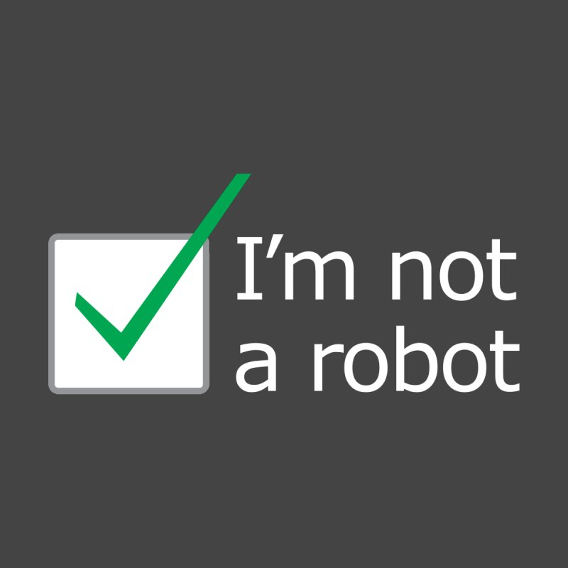I'm Not A Robot - White by Puttyhead's Artist Shop