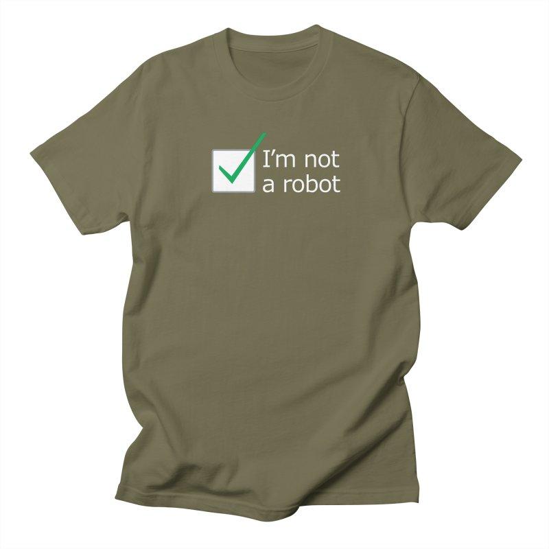 I'm Not A Robot - White Women's Unisex T-Shirt by Puttyhead's Artist Shop