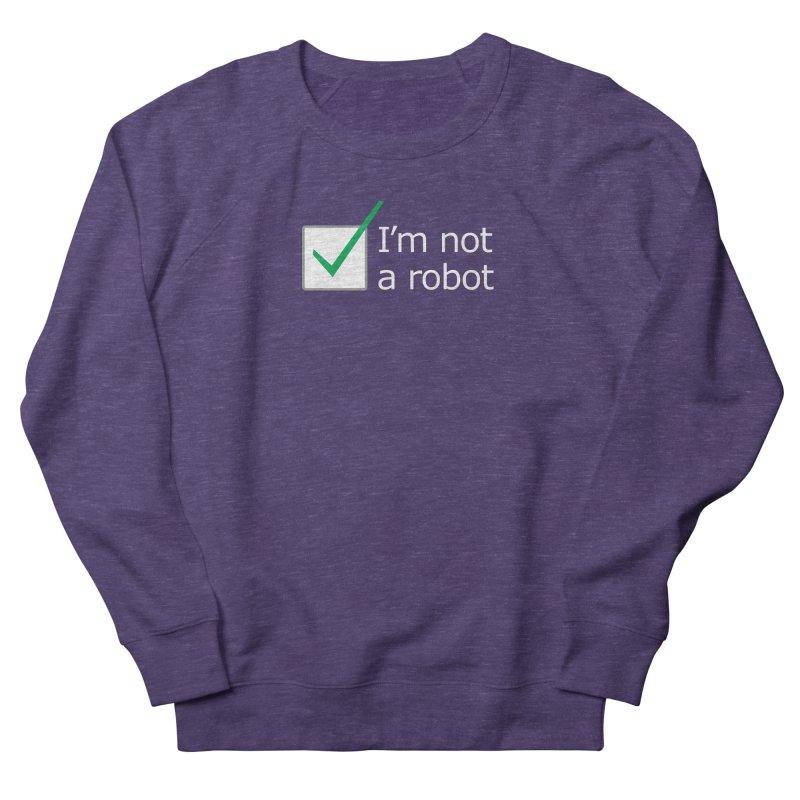 I'm Not A Robot - White Men's Sweatshirt by Puttyhead's Artist Shop