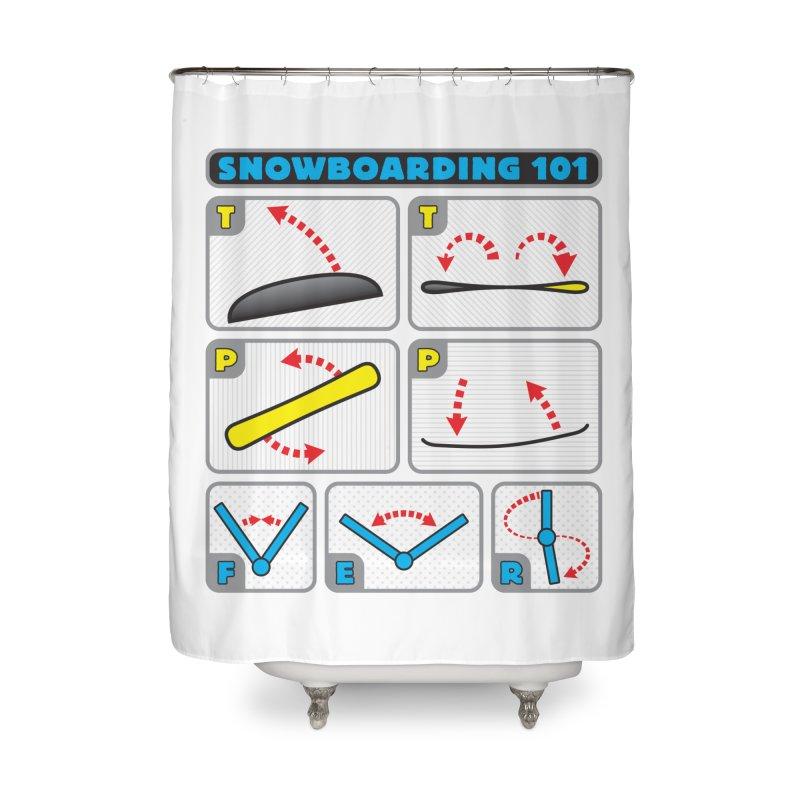 Snowboarding 101 Home Shower Curtain by Puttyhead's Artist Shop