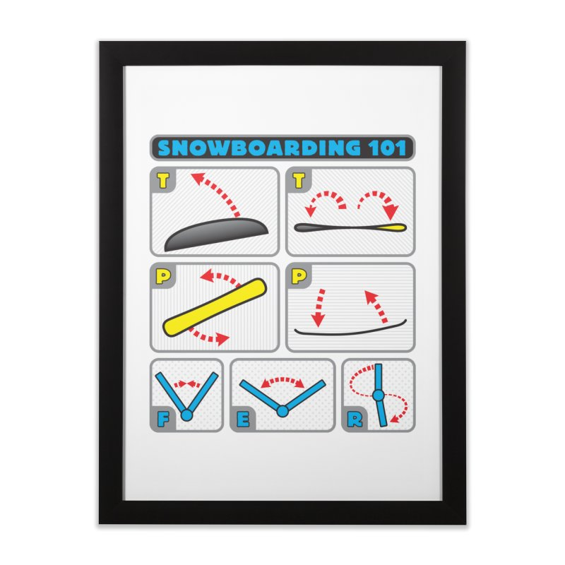 Snowboarding 101 Home Framed Fine Art Print by Puttyhead's Artist Shop