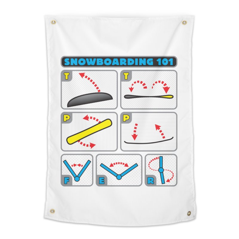 Snowboarding 101 Home Tapestry by Puttyhead's Artist Shop