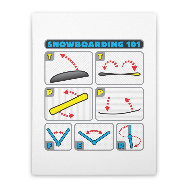 Snowboarding 101 Home Stretched Canvas by Puttyhead's Artist Shop