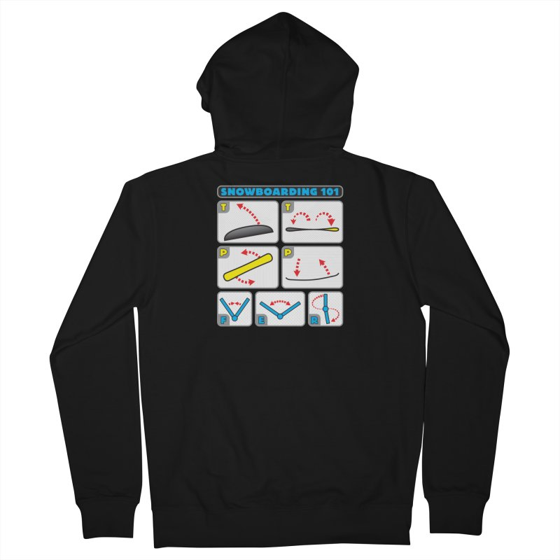 Snowboarding 101 Women's Zip-Up Hoody by Puttyhead's Artist Shop