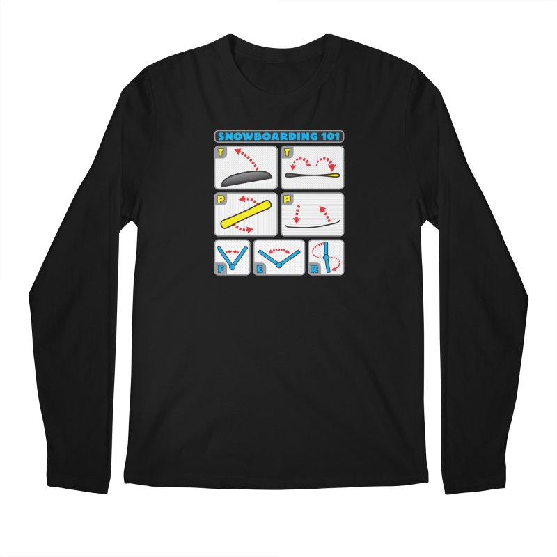 Snowboarding 101 Men's Longsleeve T-Shirt by Puttyhead's Artist Shop
