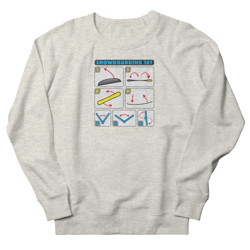 Snowboarding 101 Men's Sweatshirt by Puttyhead's Artist Shop