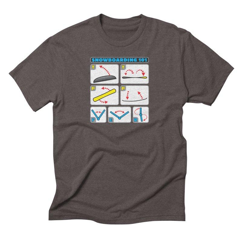 Snowboarding 101 Men's Triblend T-Shirt by Puttyhead's Artist Shop
