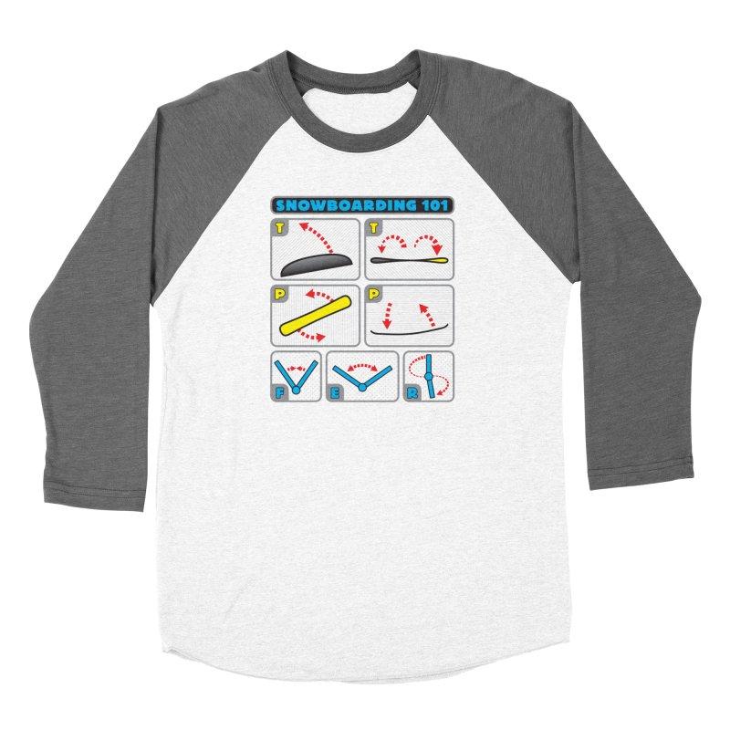 Snowboarding 101 Women's Baseball Triblend T-Shirt by Puttyhead's Artist Shop