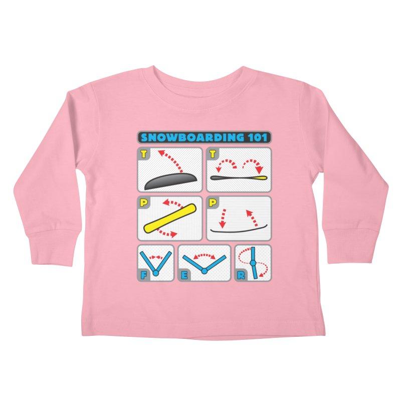 Snowboarding 101 Kids Toddler Longsleeve T-Shirt by Puttyhead's Artist Shop