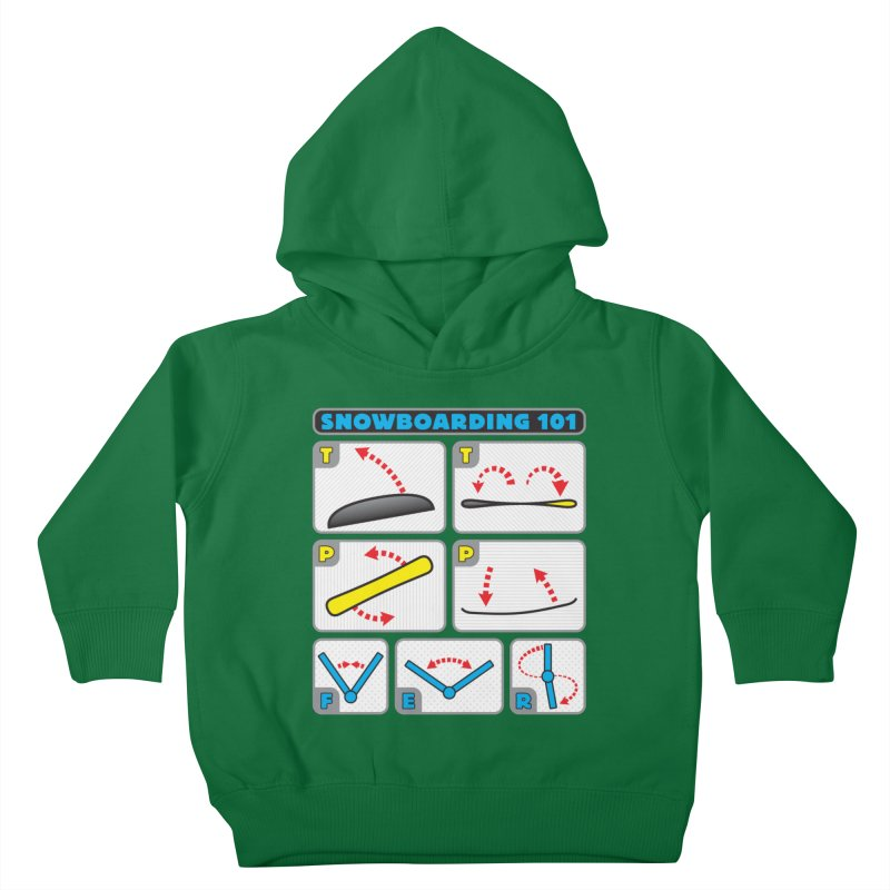 Snowboarding 101 Kids Toddler Pullover Hoody by Puttyhead's Artist Shop