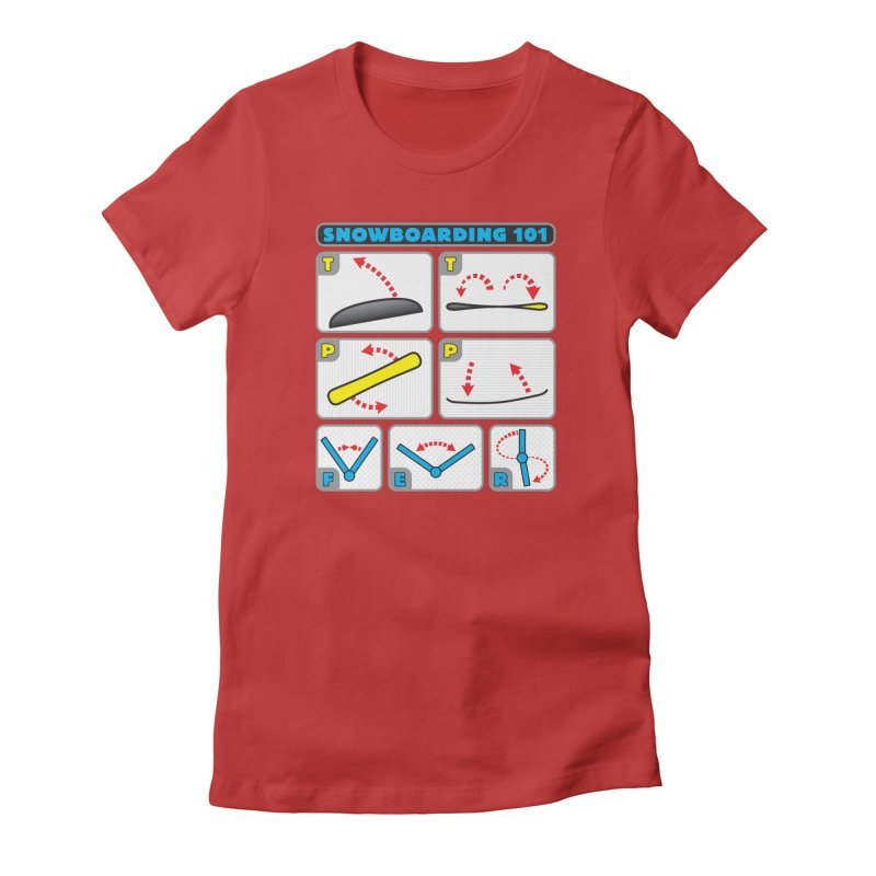 Snowboarding 101 Women's Fitted T-Shirt by Puttyhead's Artist Shop
