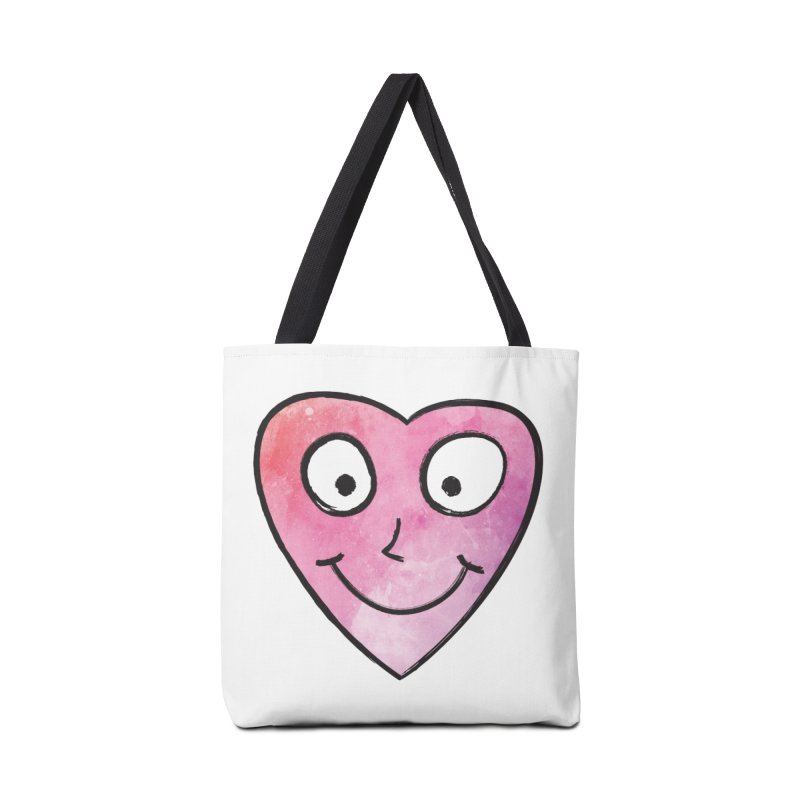 Smiley-Face - Heart Accessories Bag by Puttyhead's Artist Shop
