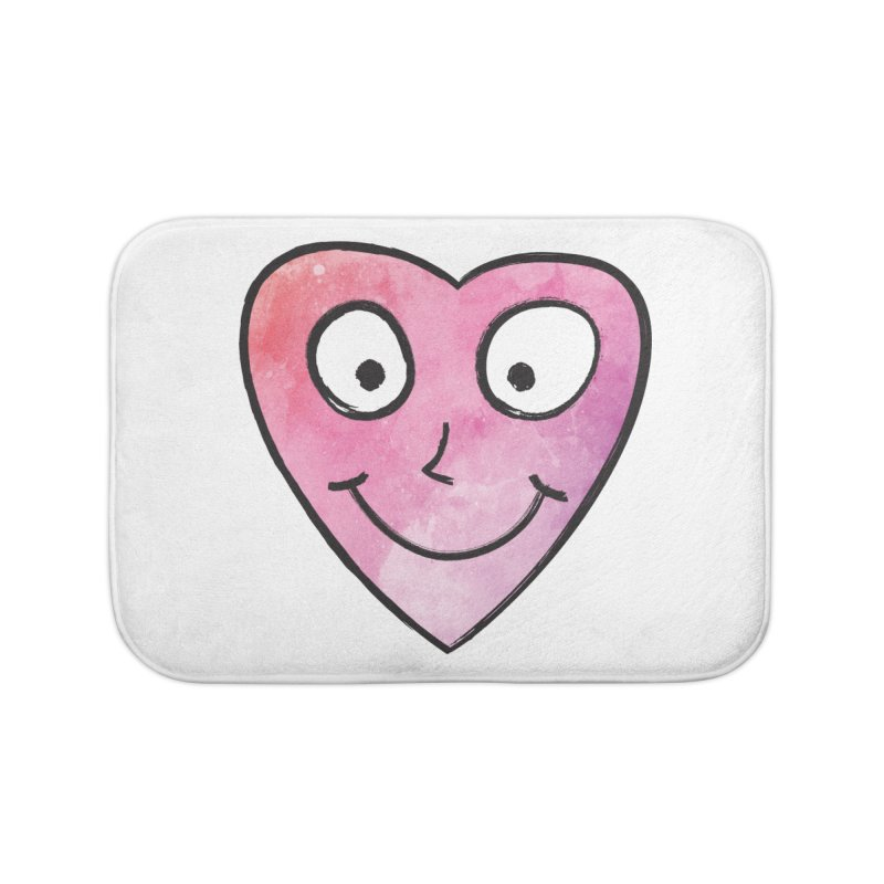 Smiley-Face - Heart Home Bath Mat by Puttyhead's Artist Shop