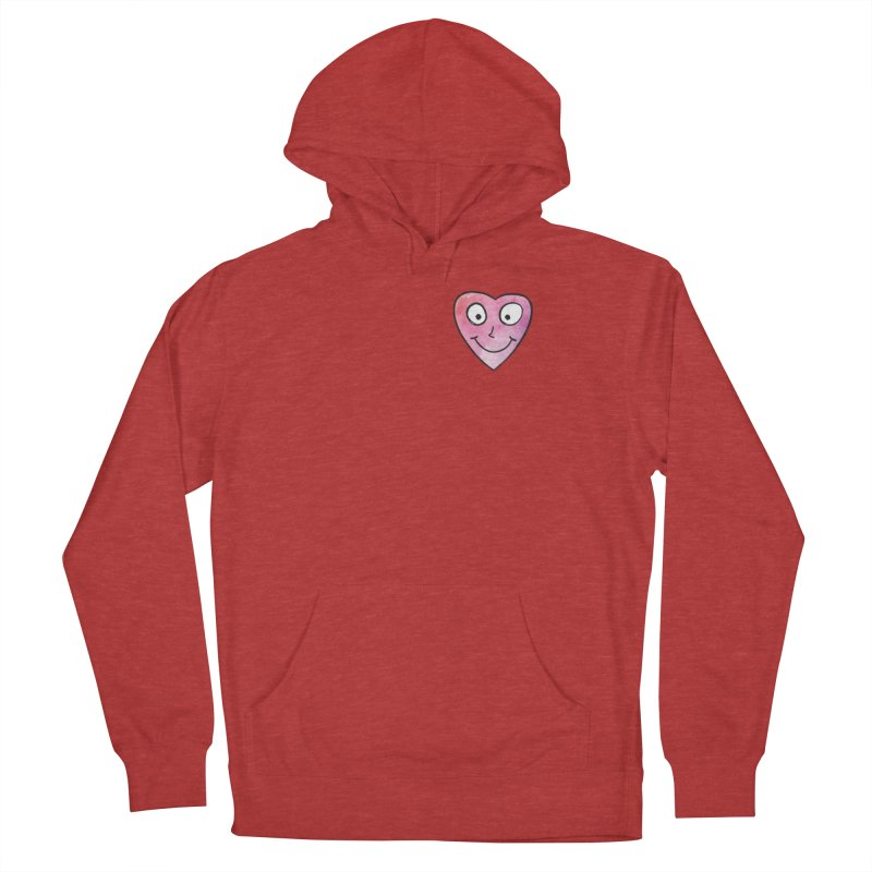 Smiley-Face - Heart Women's Pullover Hoody by Puttyhead's Artist Shop