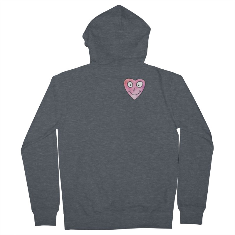 Smiley-Face - Heart Men's Zip-Up Hoody by Puttyhead's Artist Shop